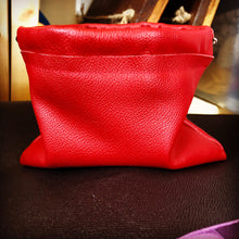 Woman in Red Genuine Leather Cosmetic Purse/Clutch - N.Kluger Designs clutch