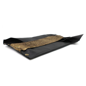 Sexy Black and Gold Genuine Leather Evening Clutch - N.Kluger Designs clutch