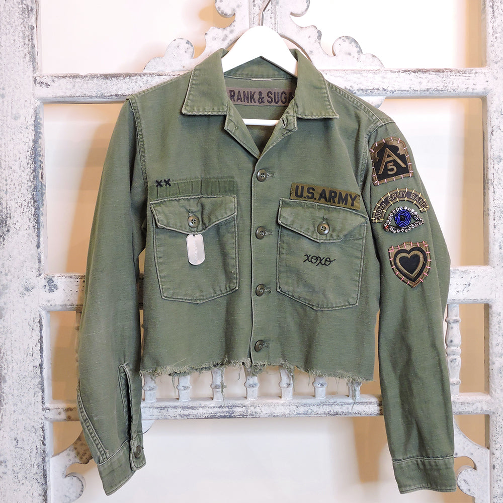 XOXO Cropped Army Jacket - Medium - Blackbird General Store