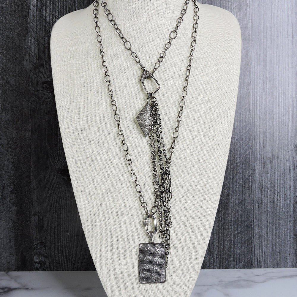 Pave Diamond Shape with Fringe - Blackbird General Store
