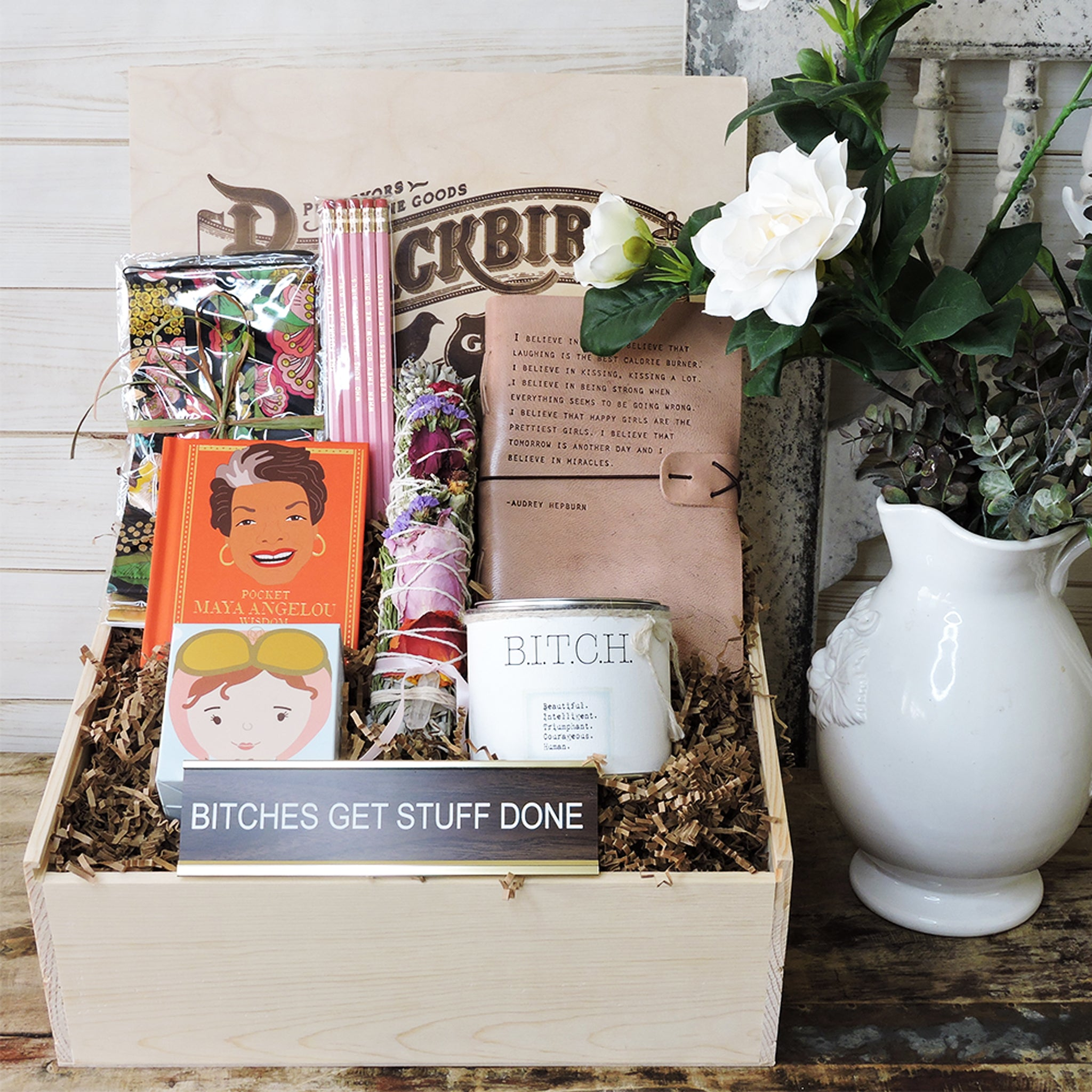 """BITCH"" Box (Beautiful, Intelligent, Triumphant, Courageous Human) - Blackbird General Store"