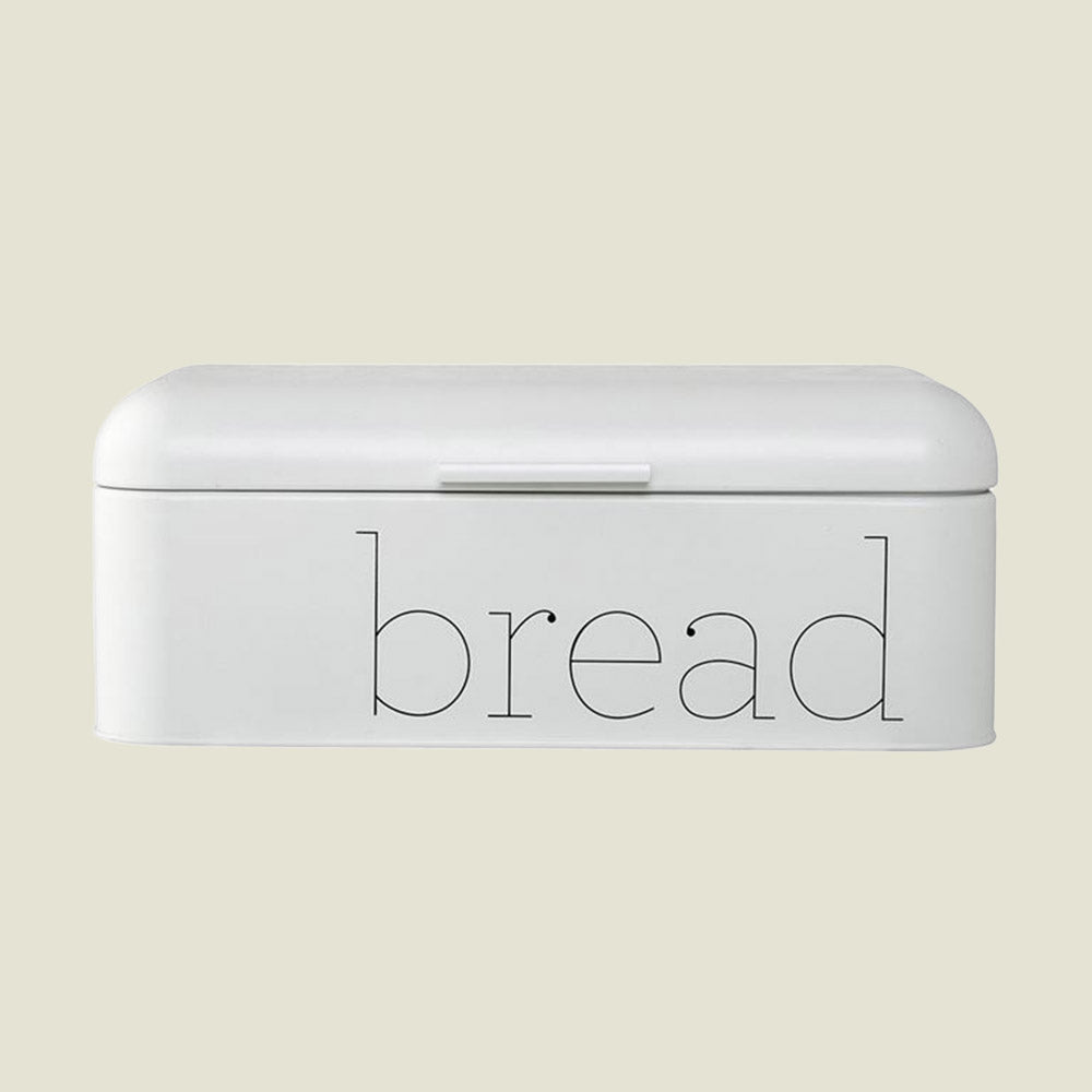Metal Bread Bin White - Blackbird General Store