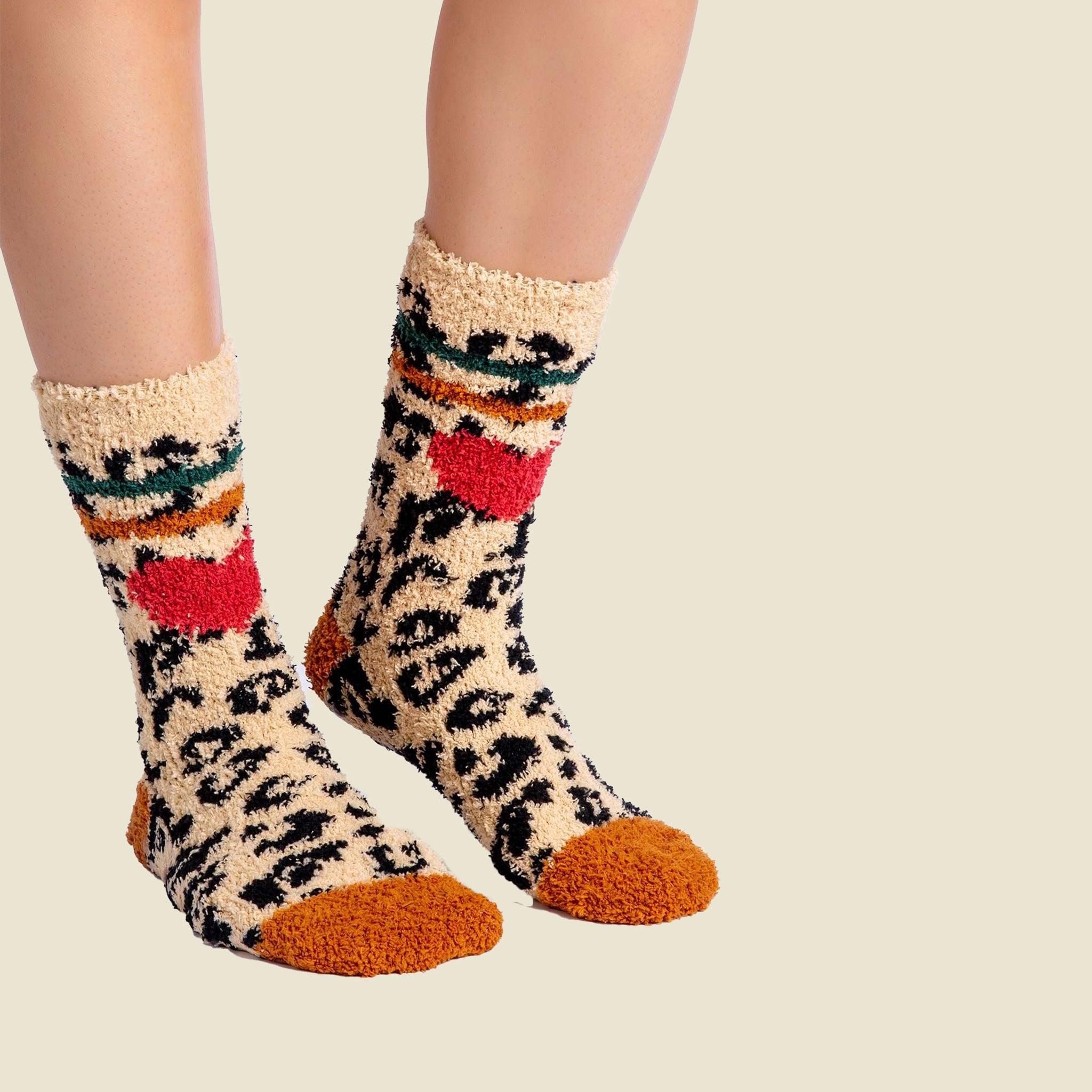 Leopard Heart Socks - Blackbird General Store