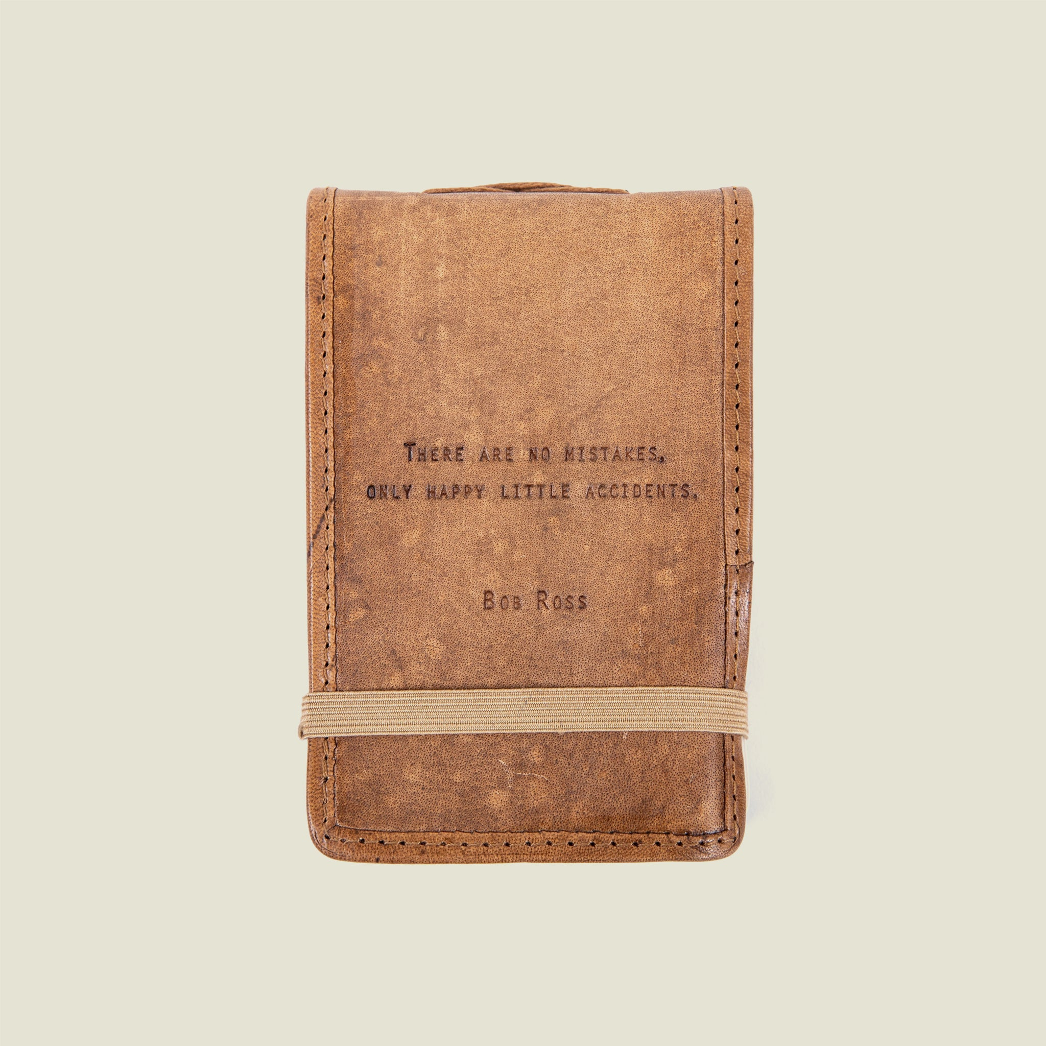 Bob Ross Leather Journal 4x6 - Blackbird General Store