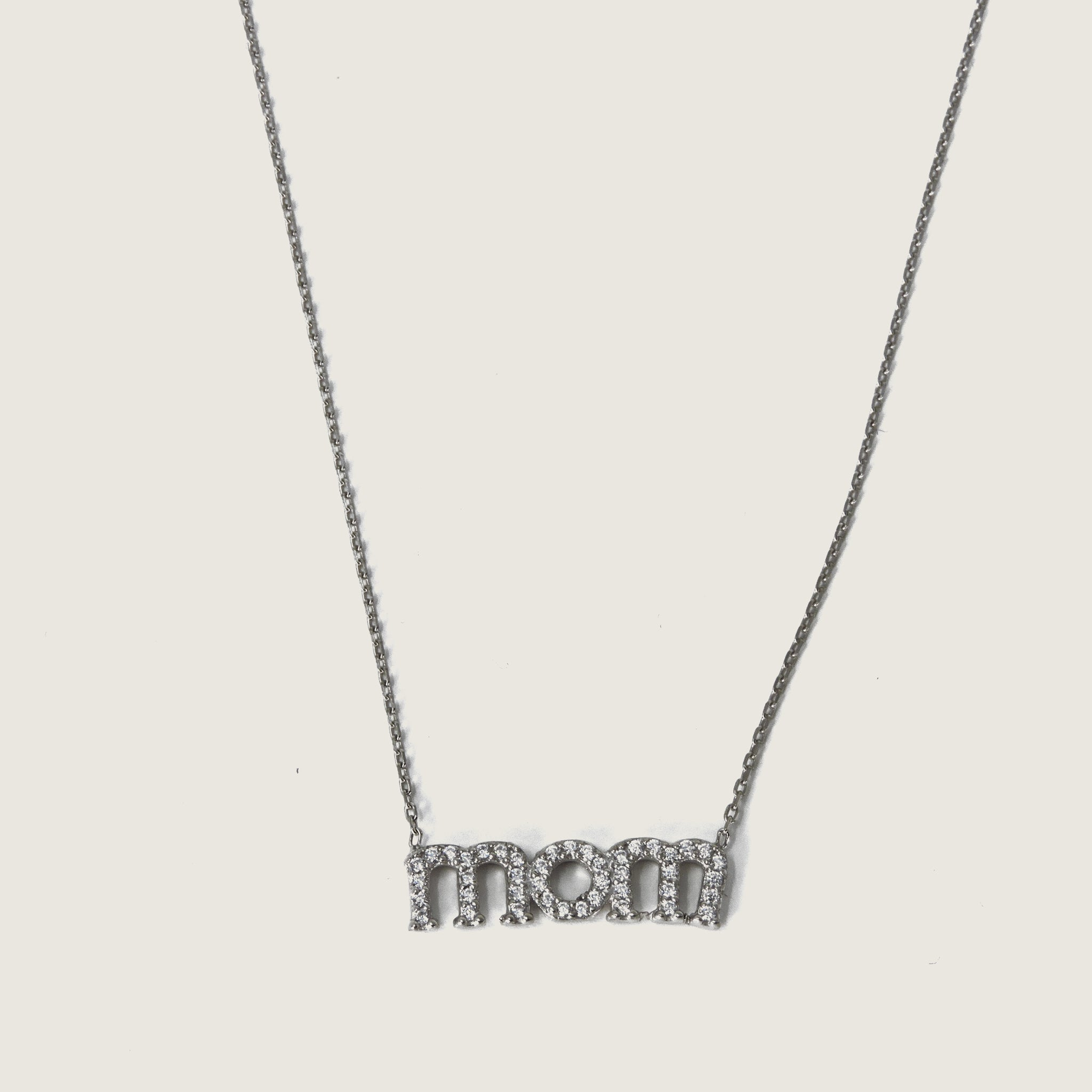 Mom Pave Necklace - Blackbird General Store