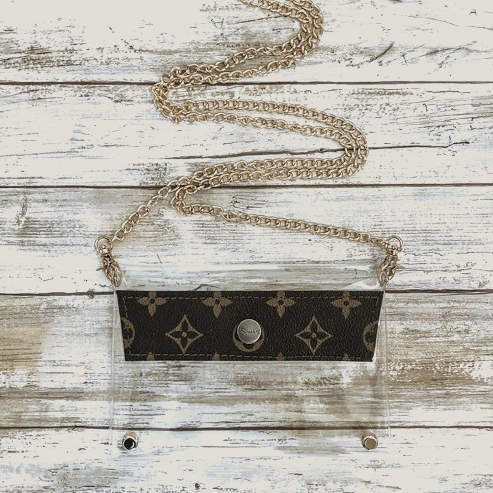 Small Clear Upcycled Louis Vuitton Crossbody - Blackbird General Store