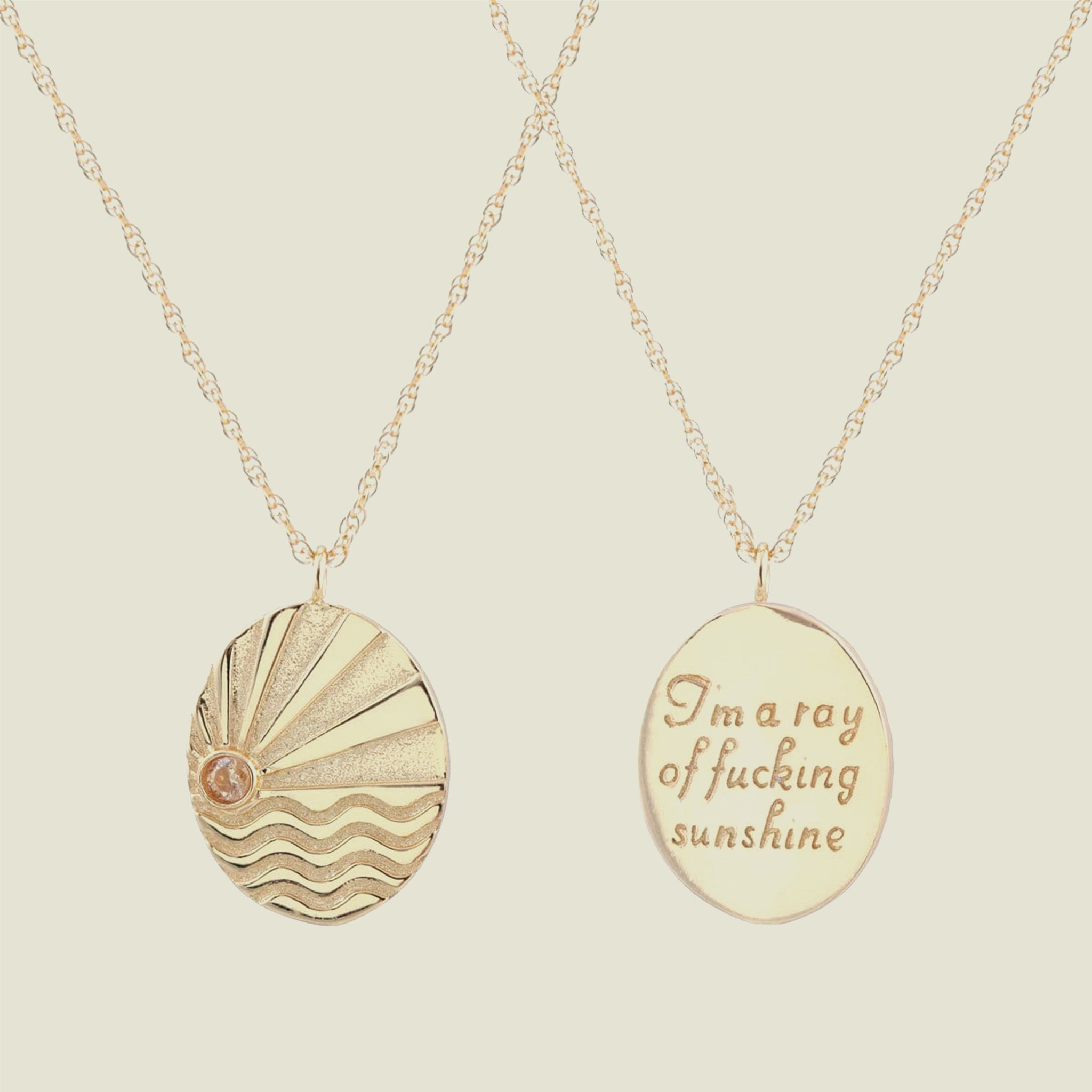 Ray of F-ing Sunshine Long Chain Necklace - Blackbird General Store