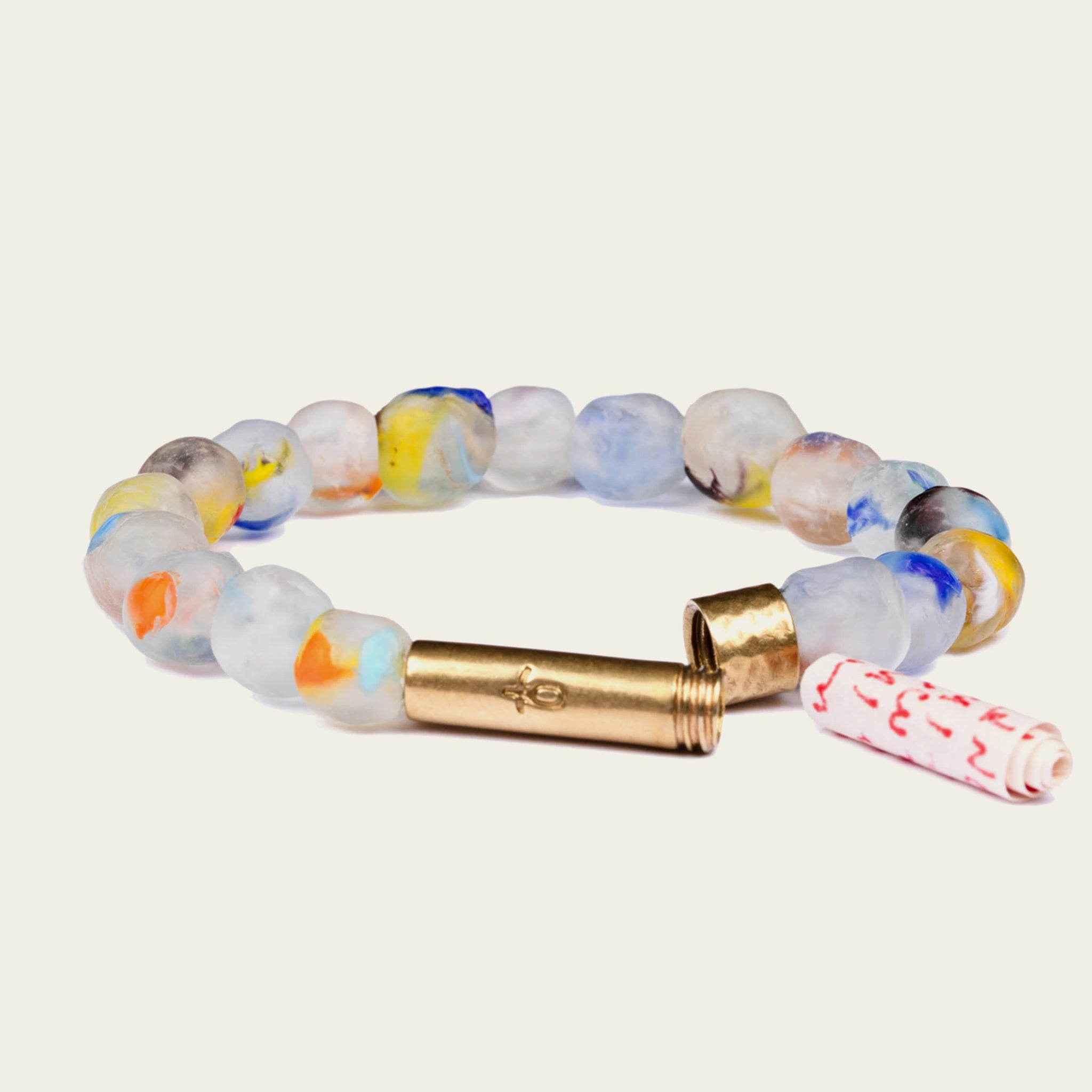 Recycled Glass Wish Bracelet - Various Colors - Blackbird General Store