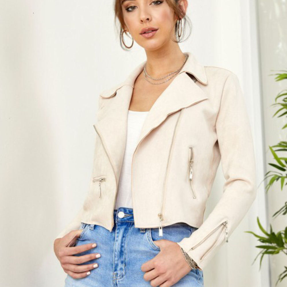 Asymmetrical Suede Jacket - Blackbird General Store