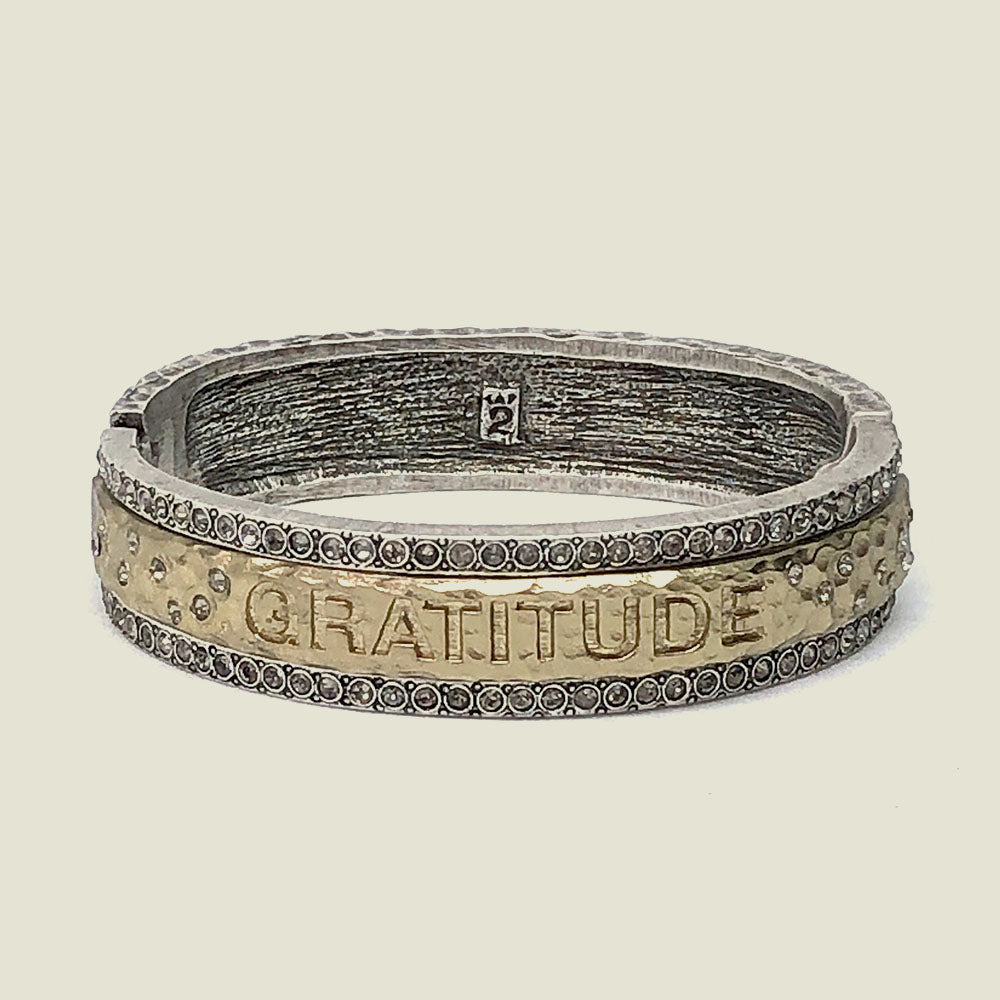 Vintage Silver Gratitude Bangle - Blackbird General Store