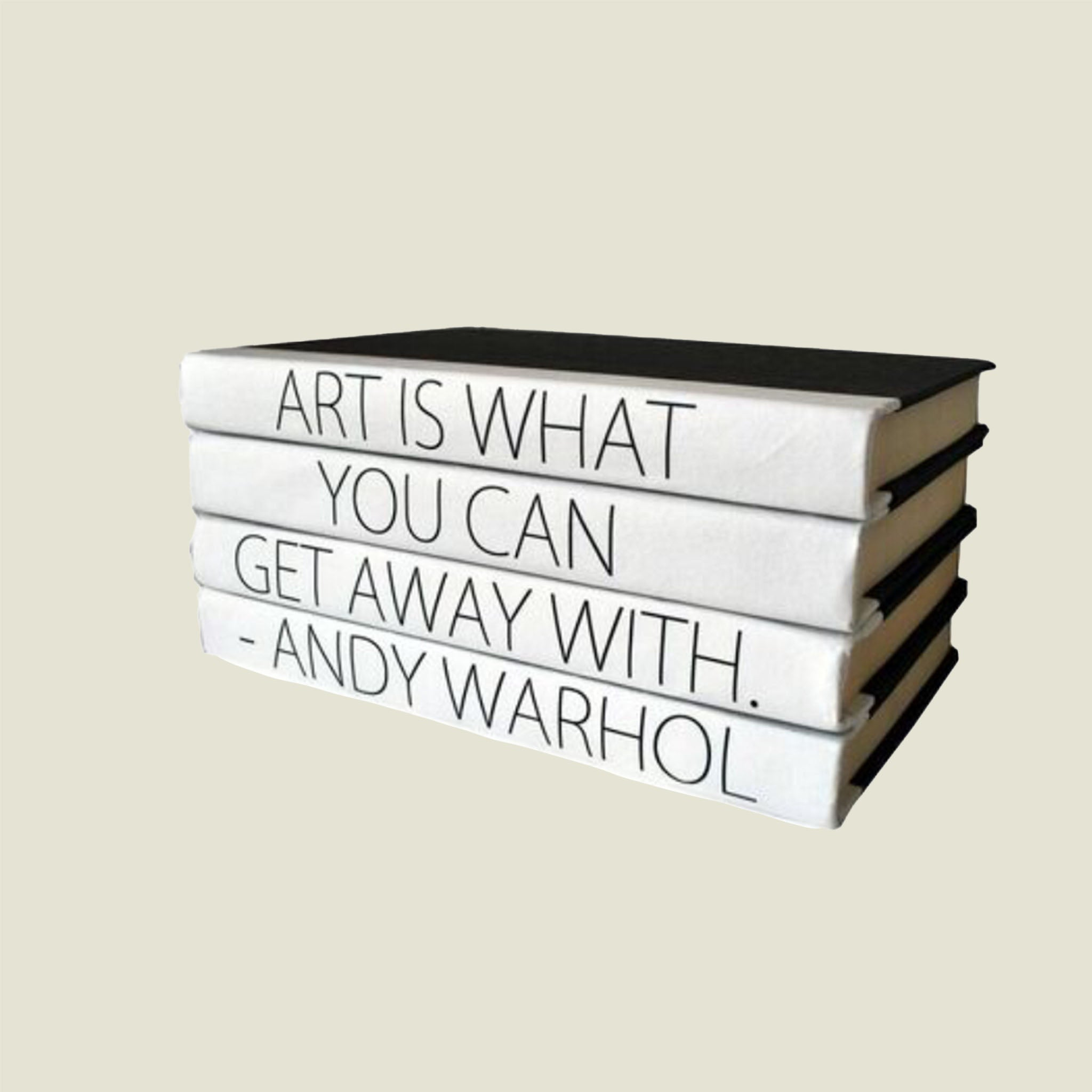 Art is What you Get Away -  Book Stack - Blackbird General Store