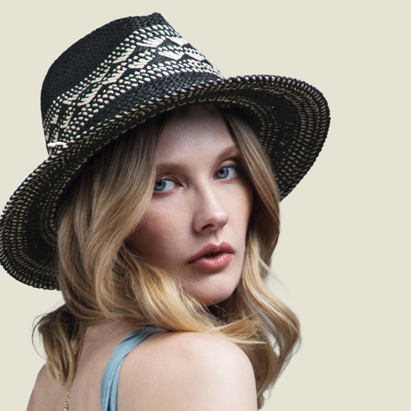 Crisscross Panama Hat Black - Blackbird General Store