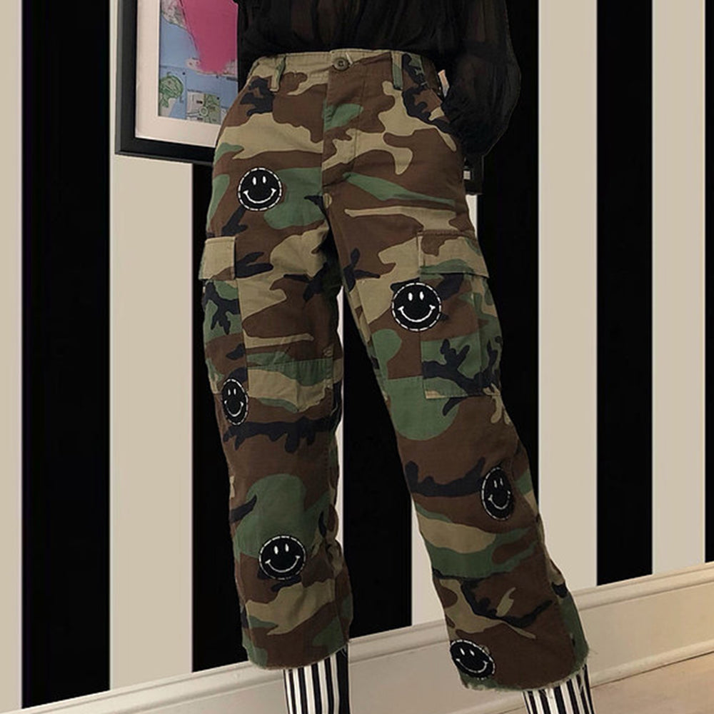 Smiley Camo Embroidered Pant - Blackbird General Store