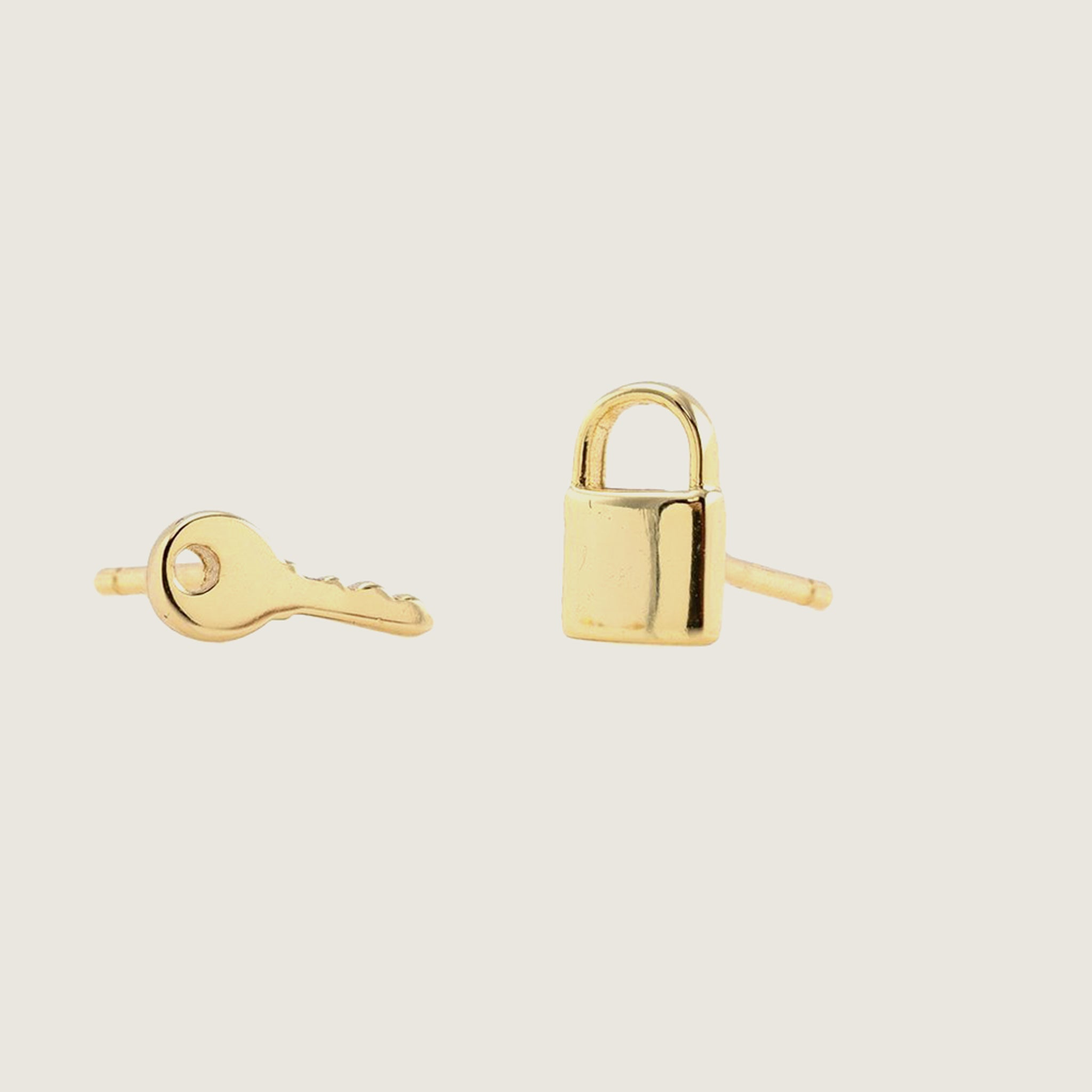 Lock & Key Stud Earrings - Blackbird General Store