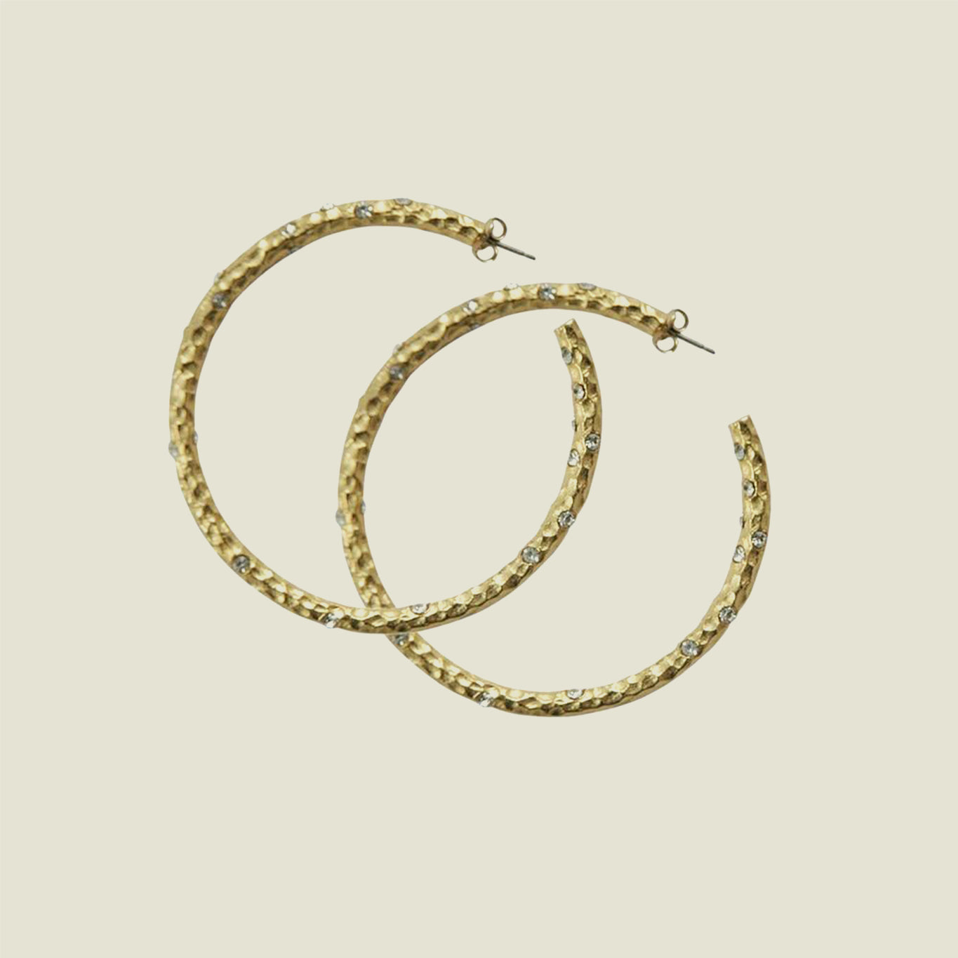 Gold Pavia Hoops w/ Crystals - Blackbird General Store