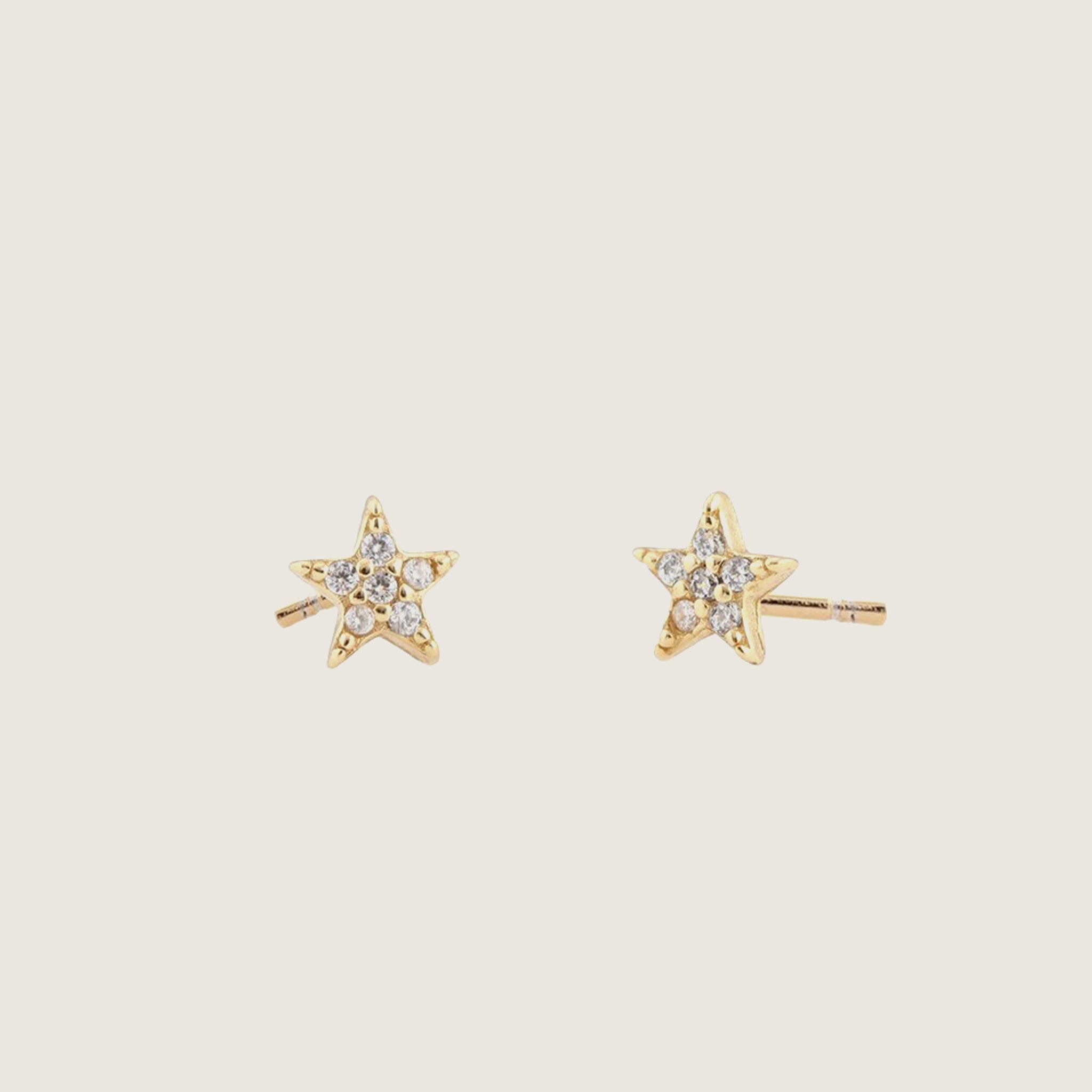 Star Pave Stud Earrings - Blackbird General Store