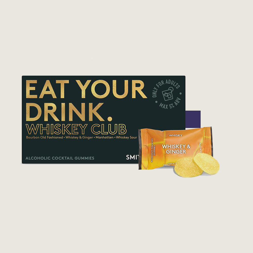 """Whiskey Club"" Alcoholic Cocktail Gummies"