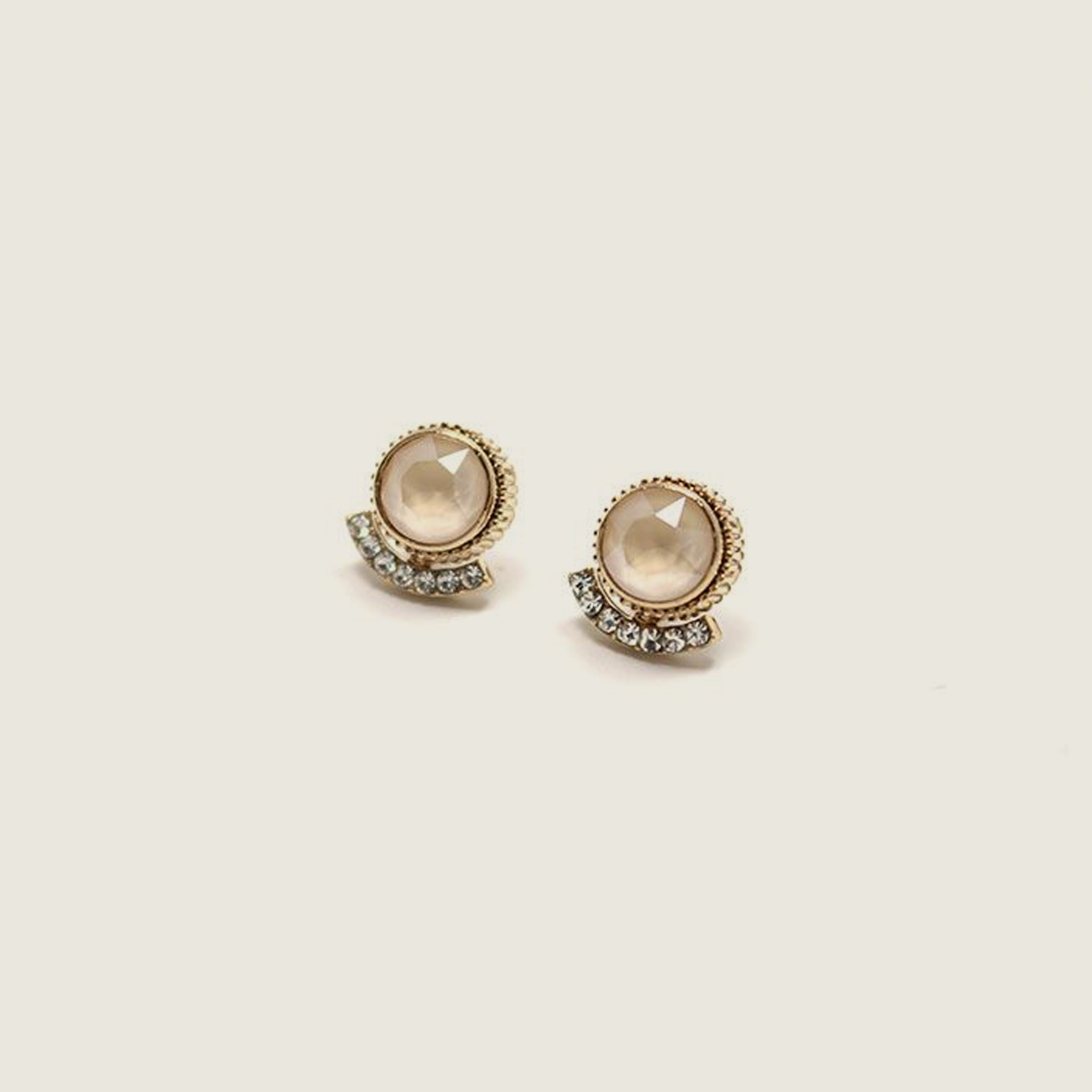 Mimosa Post Earrings - Champagne