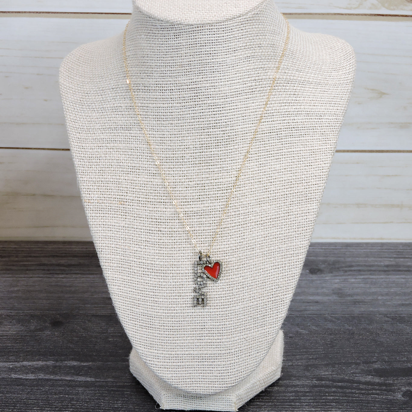 Love Charm with Red Enamel Heart - Blackbird General Store