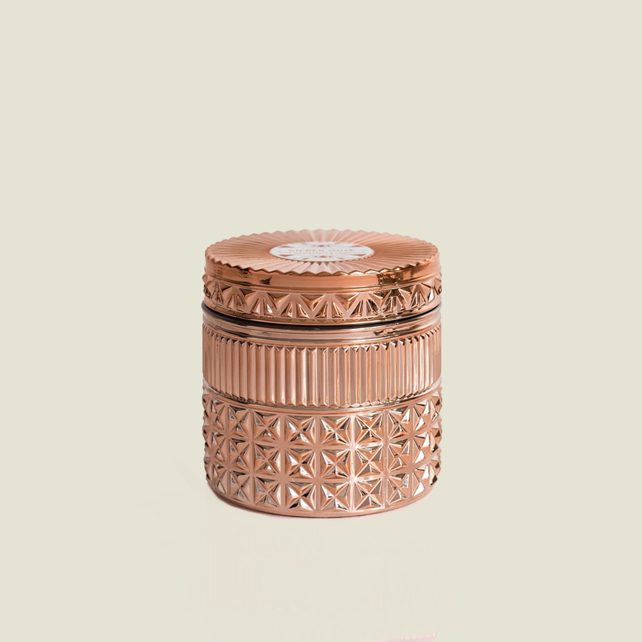 Rose Gold Faceted Candle - Blackbird General Store