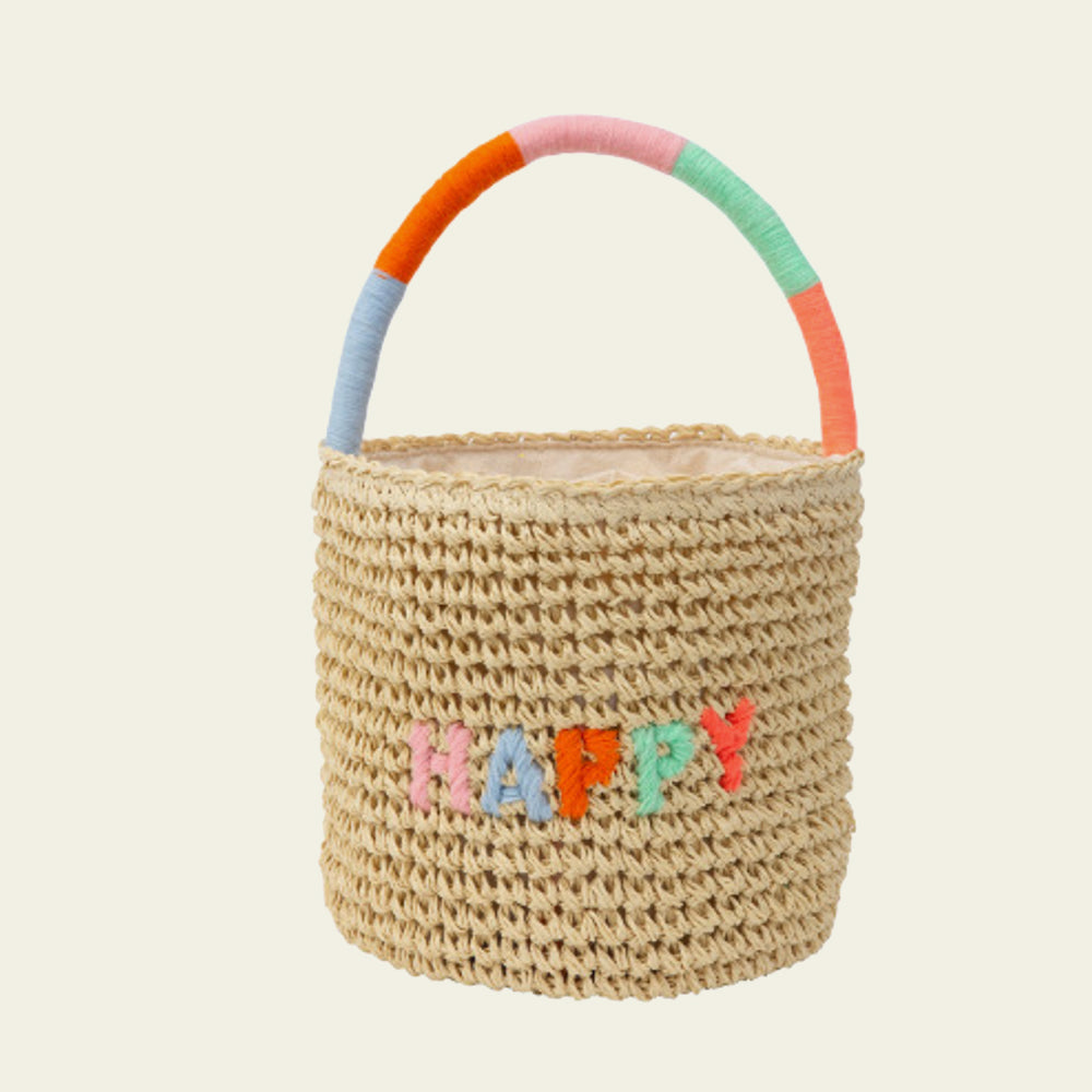Happy Woven Straw Bag - Blackbird General Store