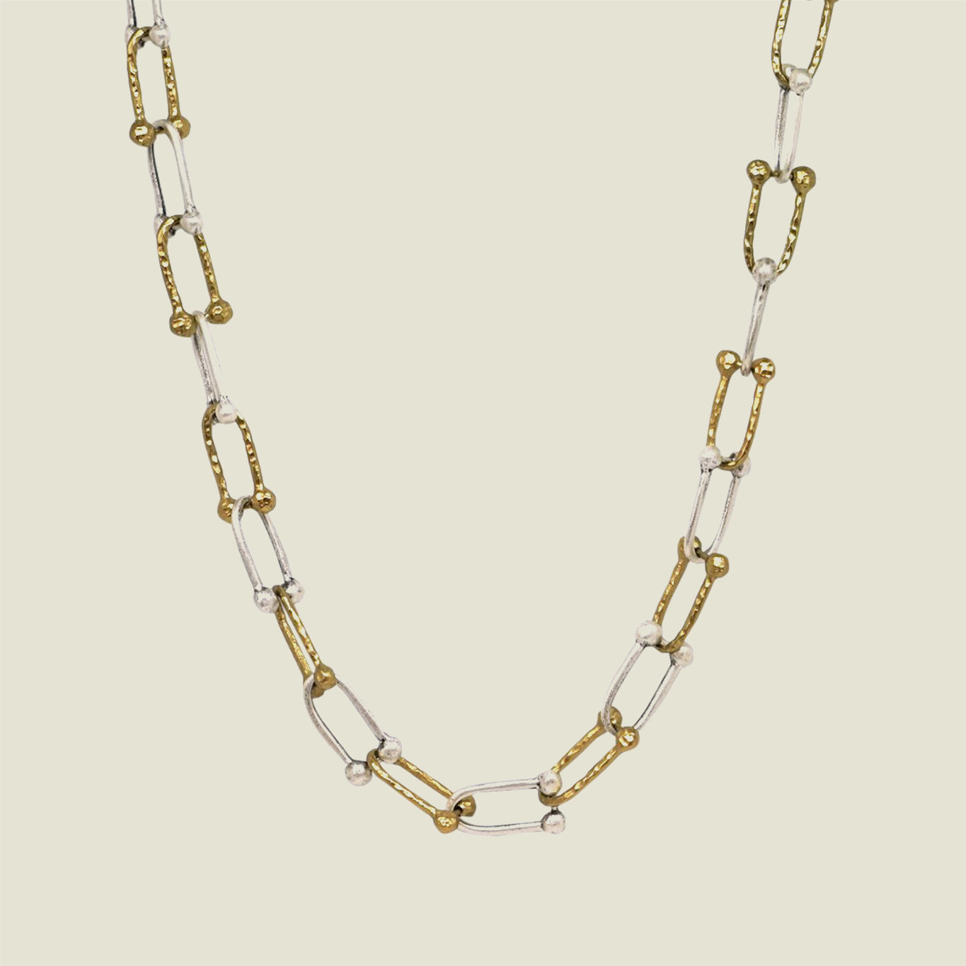 Two Tone Horseshoe Link Necklace - Blackbird General Store