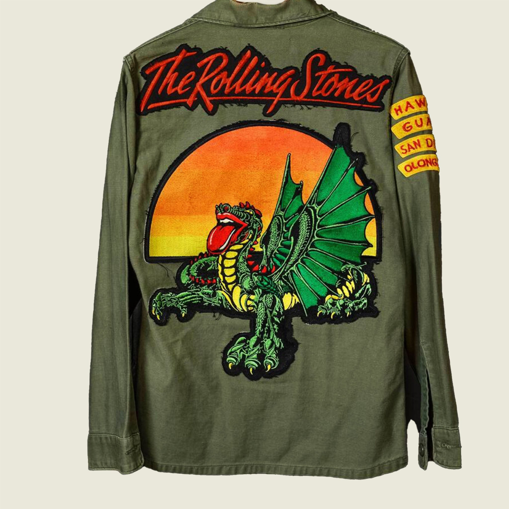 Rolling Stones Dragon Army Jacket - Small - Blackbird General Store