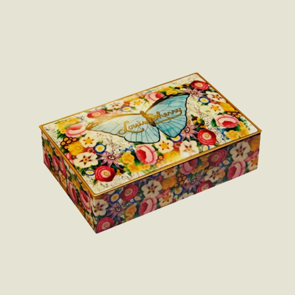 John Derian Butterfly Chocolate Tin - 12 pc