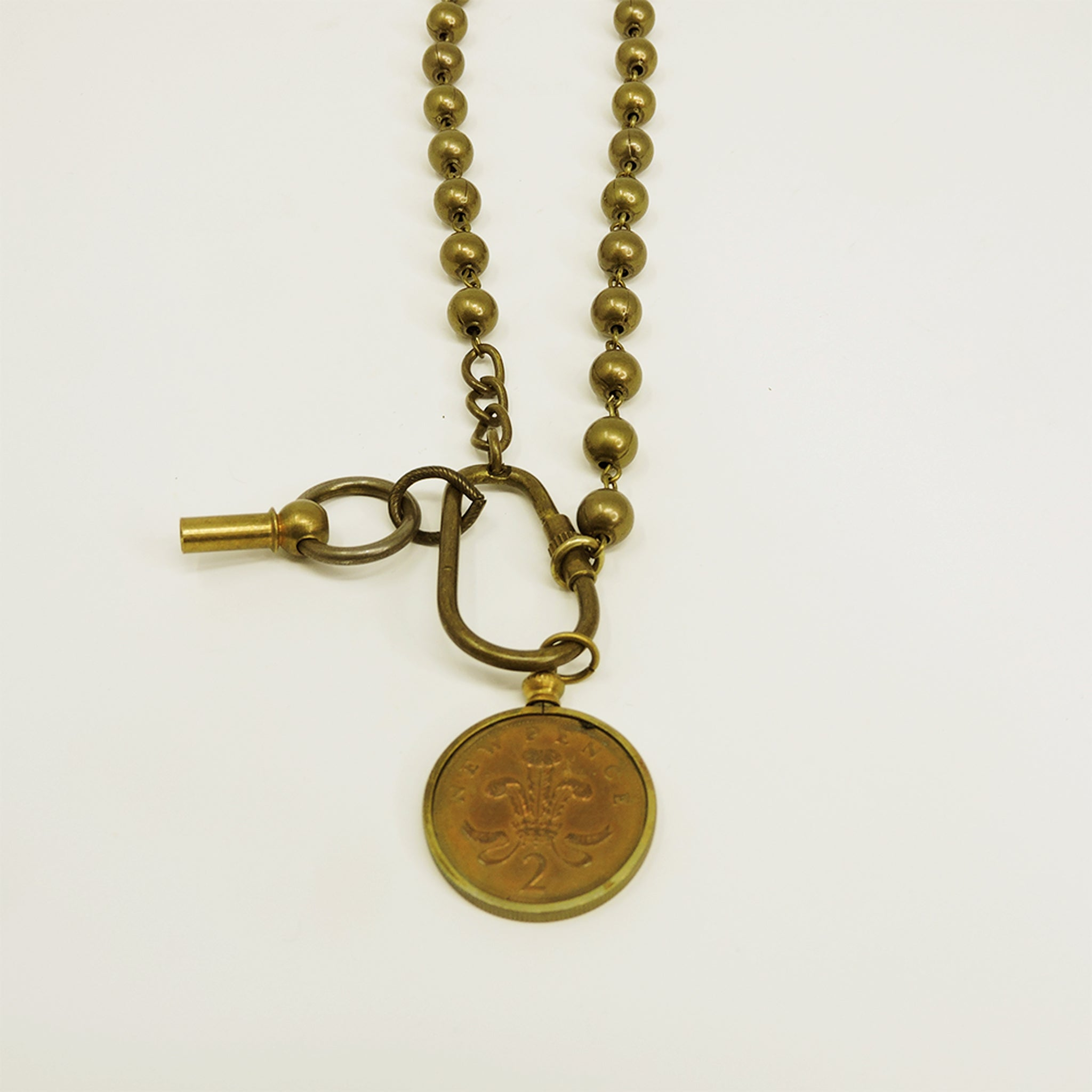 Vintage Copper Coin Necklace