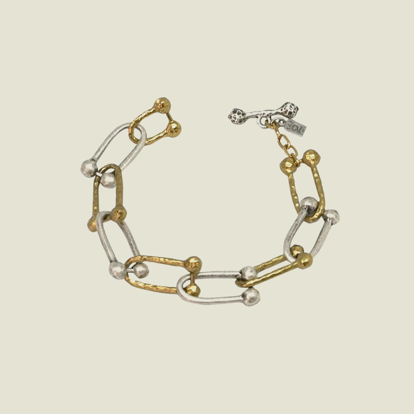 Two Tone Horseshoe Link Bracelet - Blackbird General Store