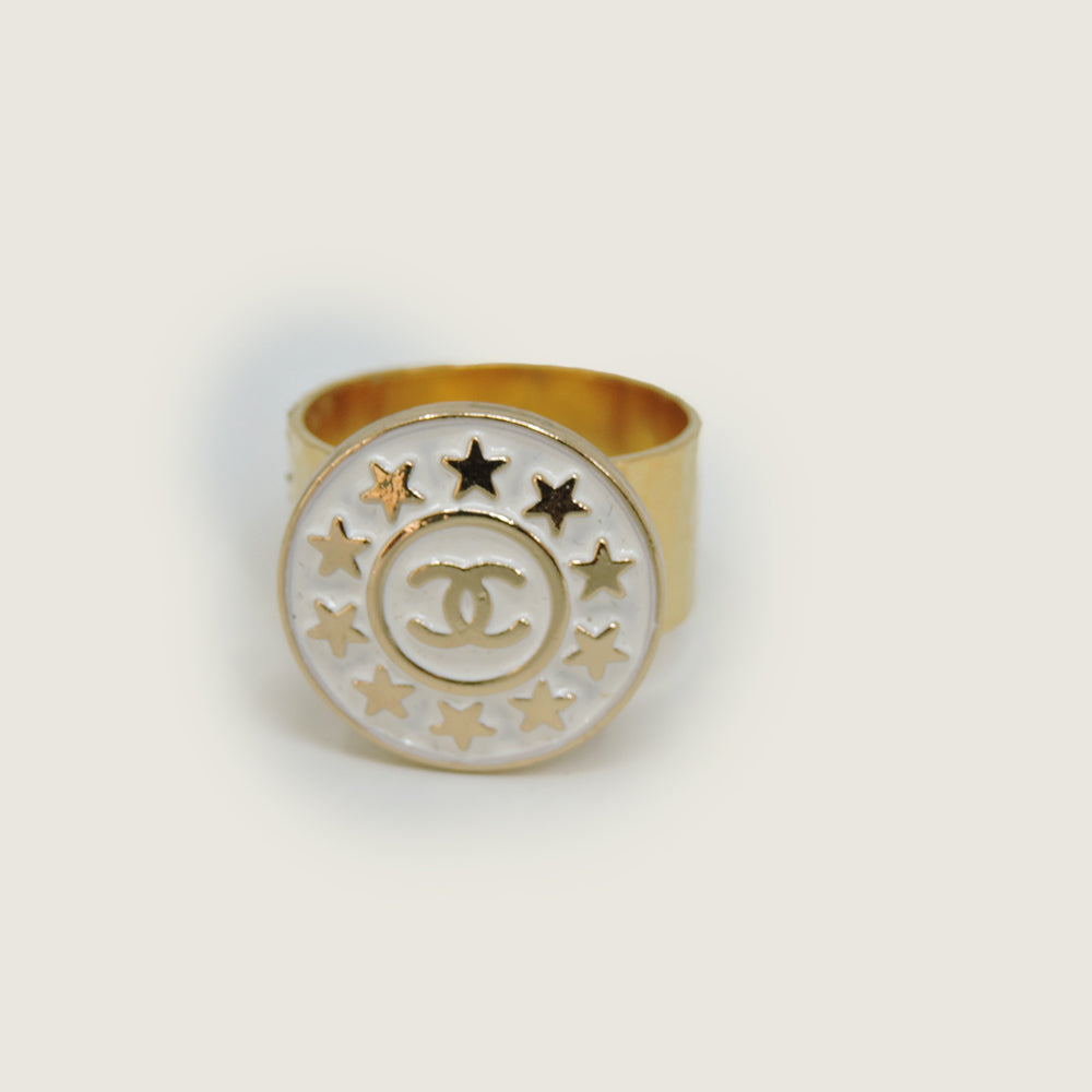 CC White & Gold Star Ring - Blackbird General Store