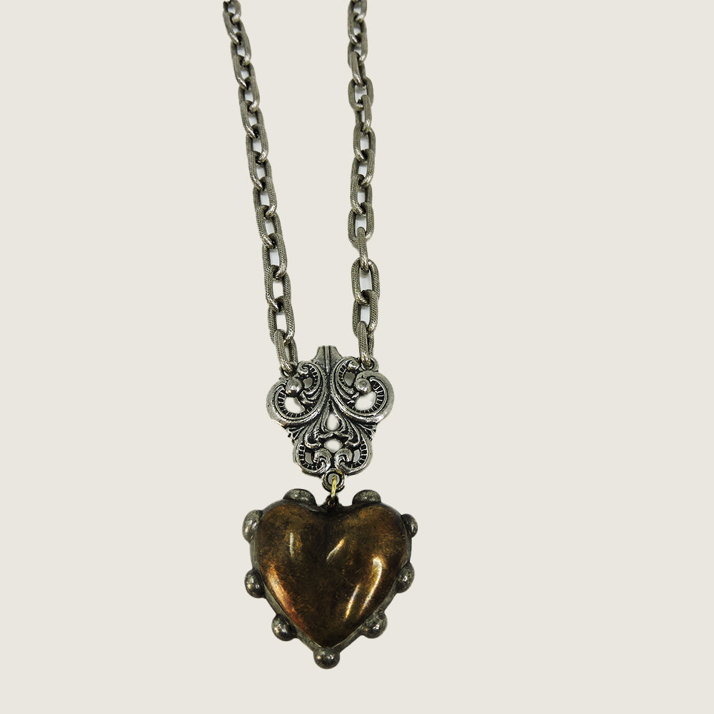 Rustic Heart Boyfriend Necklace