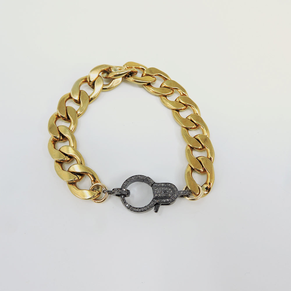 Gold Stainless Diamond Bracelet