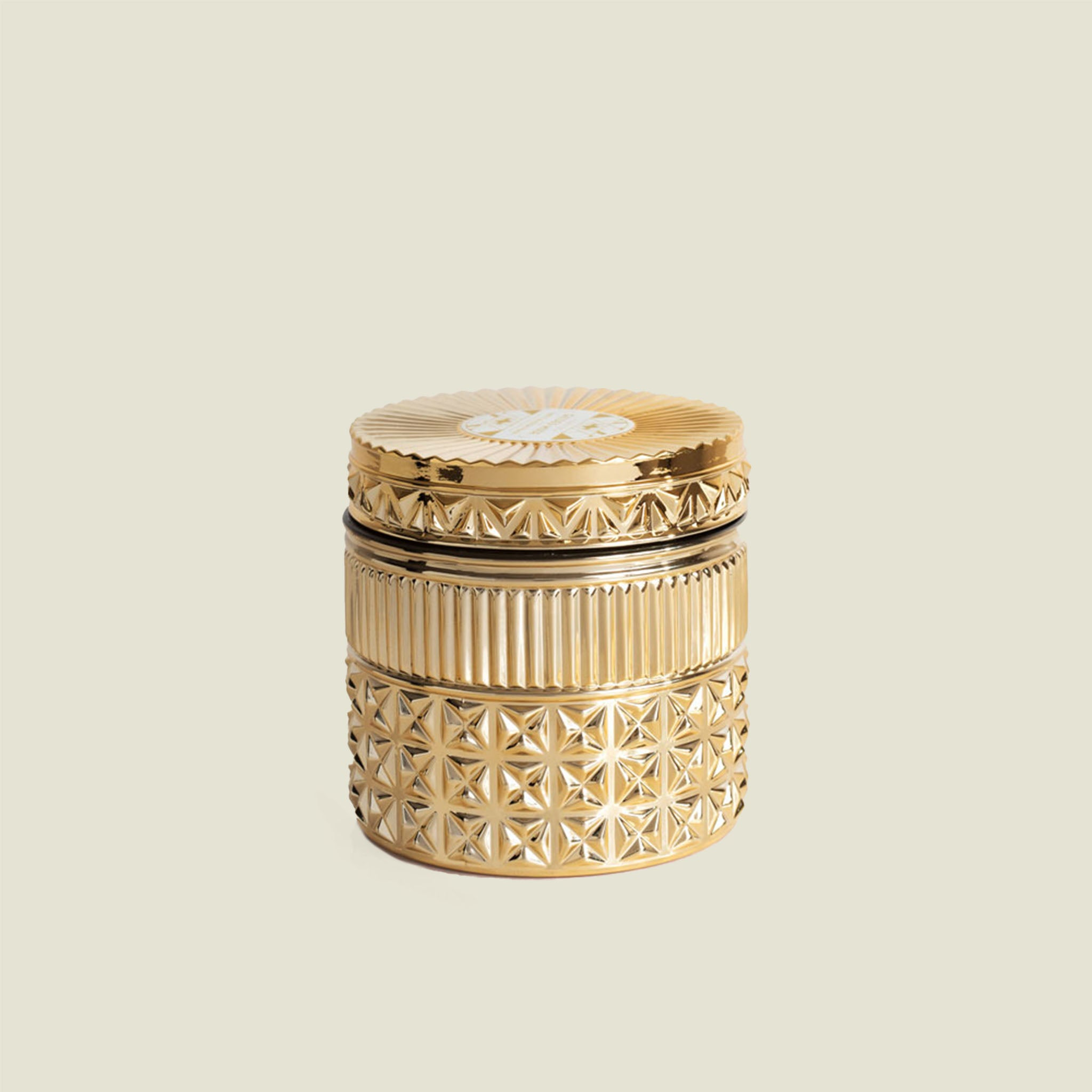 Gold Faceted Candle - Blackbird General Store