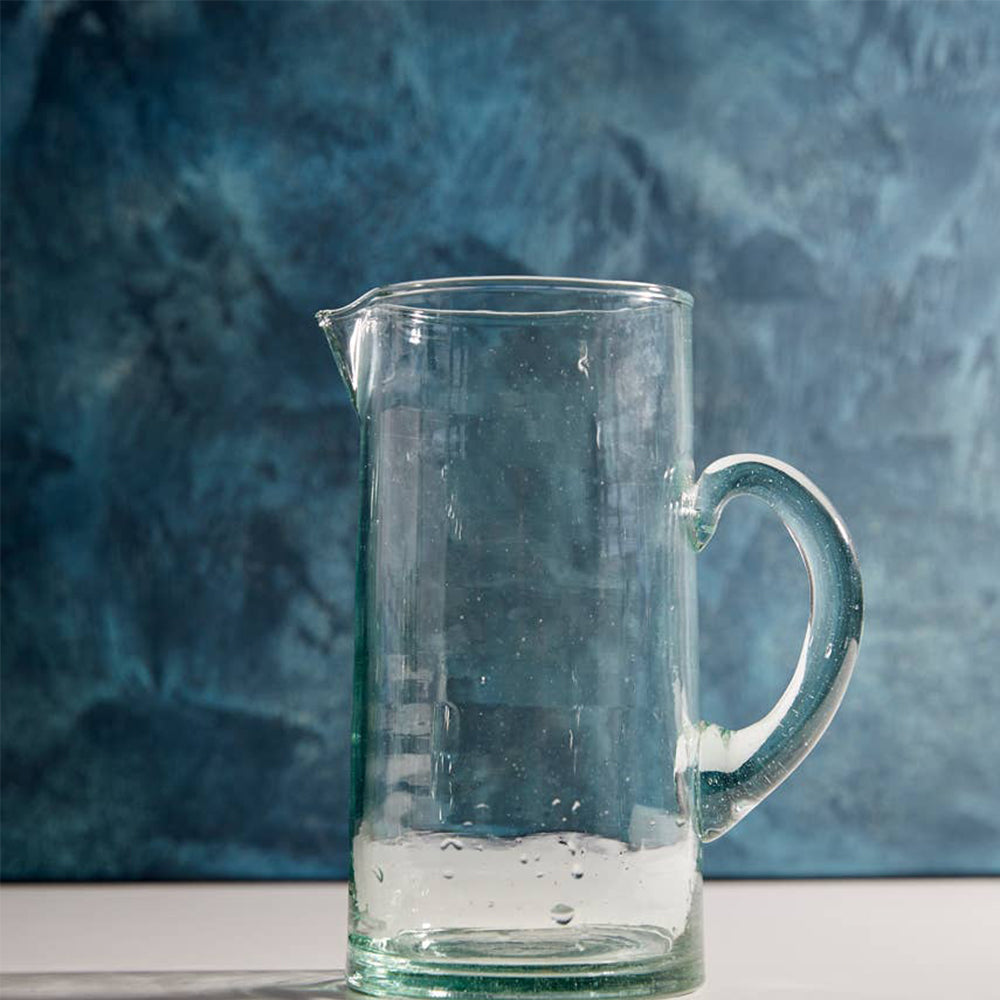 Moroccan Clear Jug - Blackbird General Store