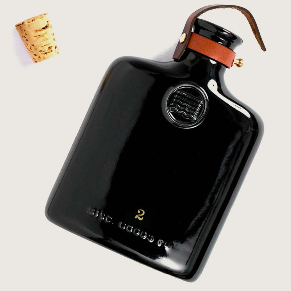 Black Ceramic Flask - Blackbird General Store