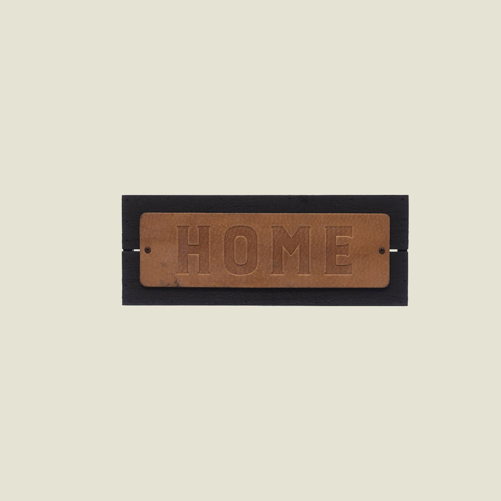 Home Leather Plaque - Blackbird General Store