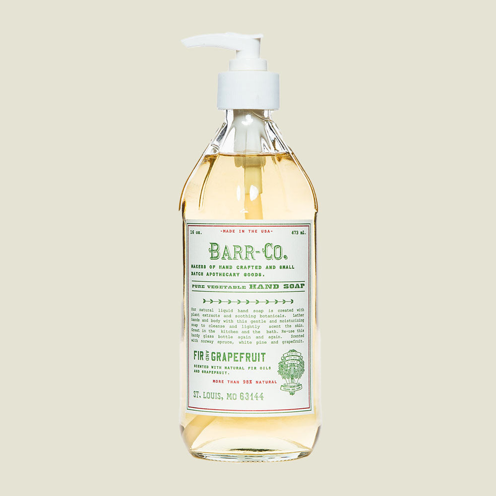 Fir Grapefruit Hand Soap - Blackbird General Store