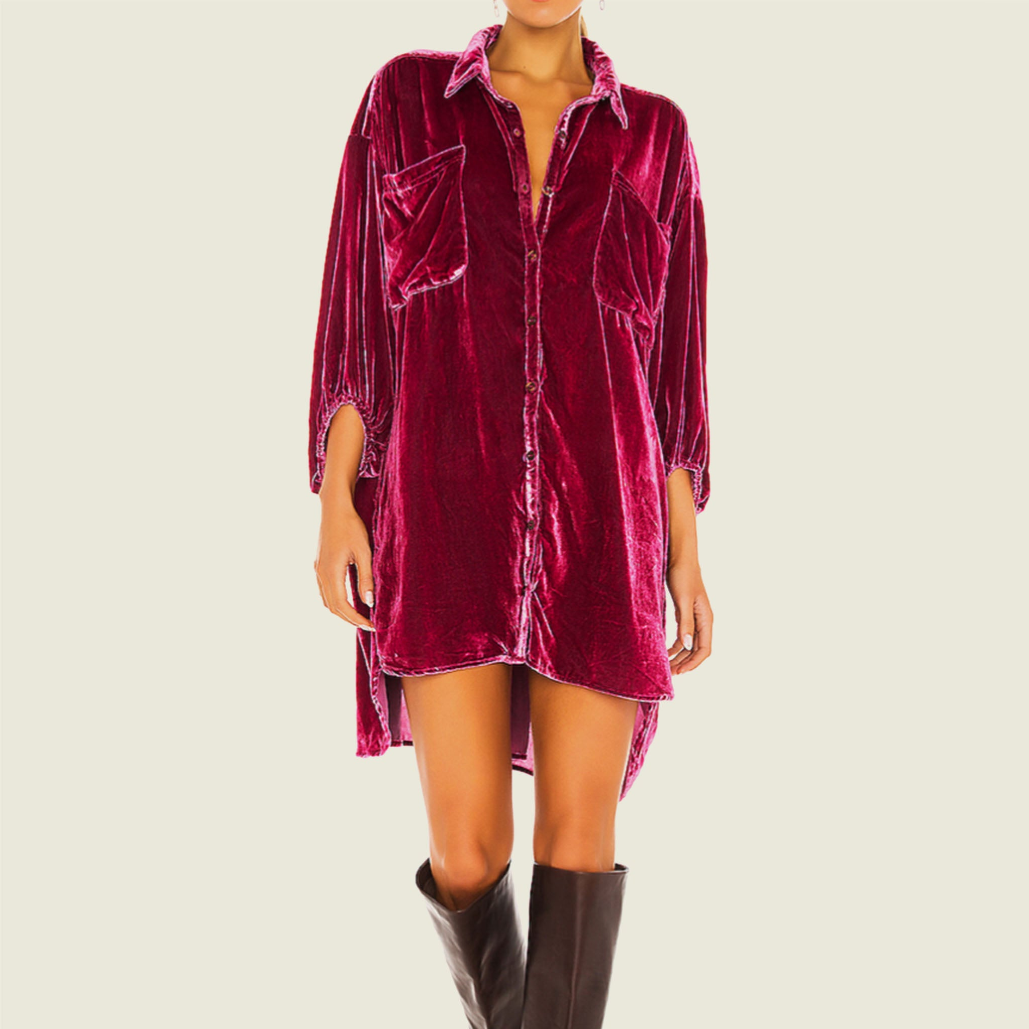 Luxe Velvet Shirtdress - Blackbird General Store