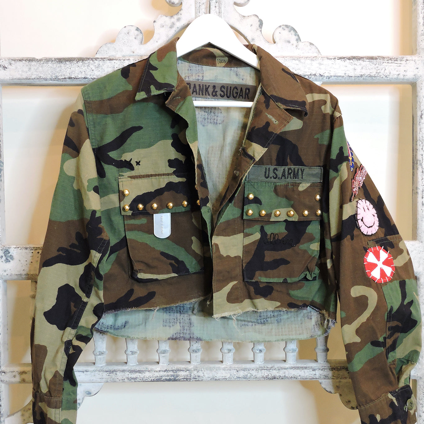 """All In"" Cropped Army Jacket - Small - Blackbird General Store"