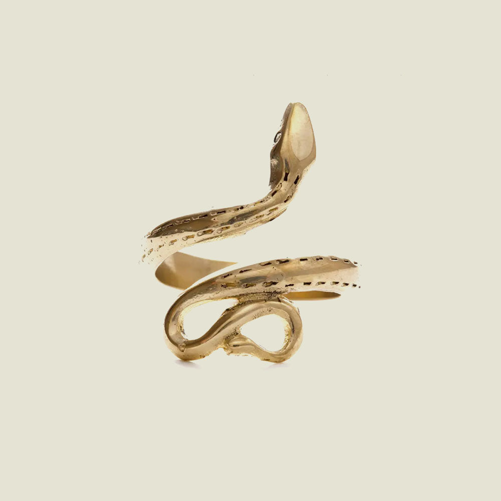 Golden Serpent Ring - Blackbird General Store