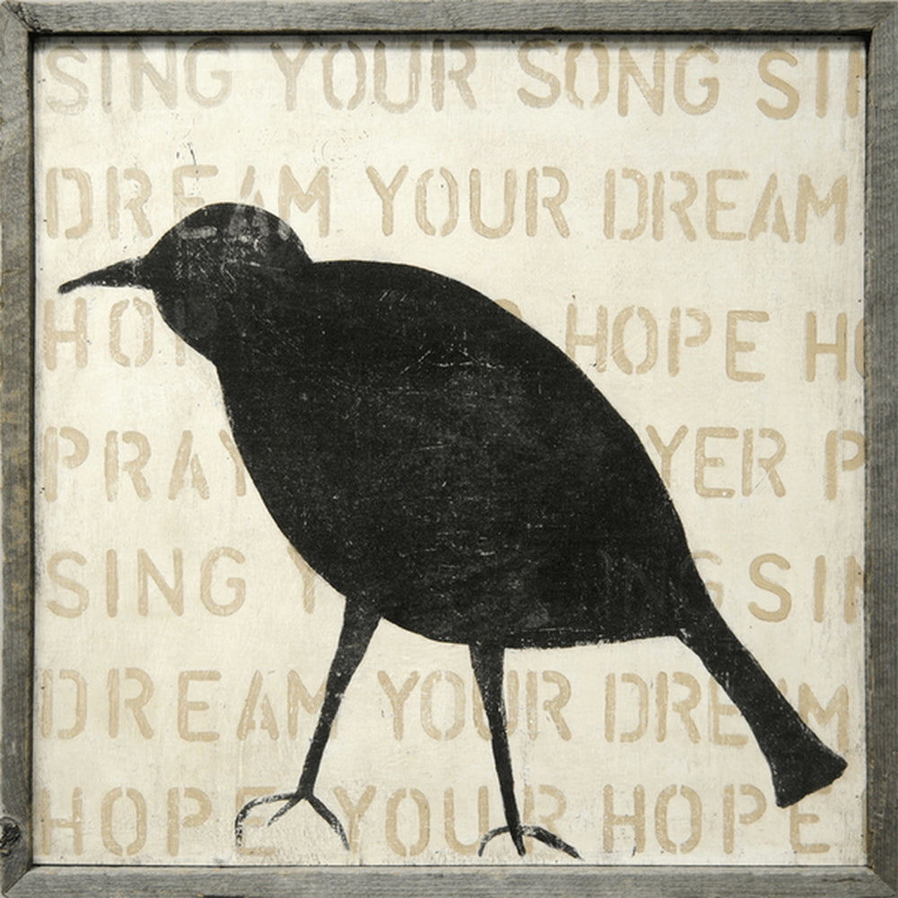 Bird Silhouette Art Print - Blackbird General Store