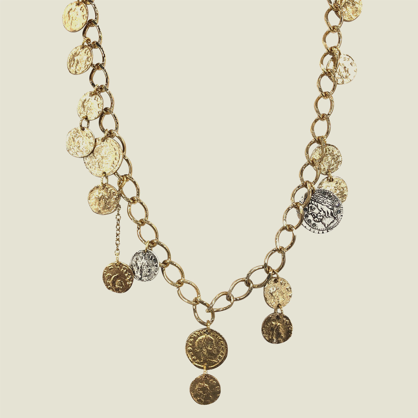 Gold Roman Coin Necklace - Blackbird General Store