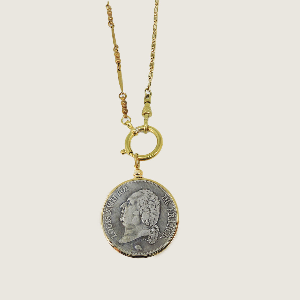 French 1821 Coin Necklace