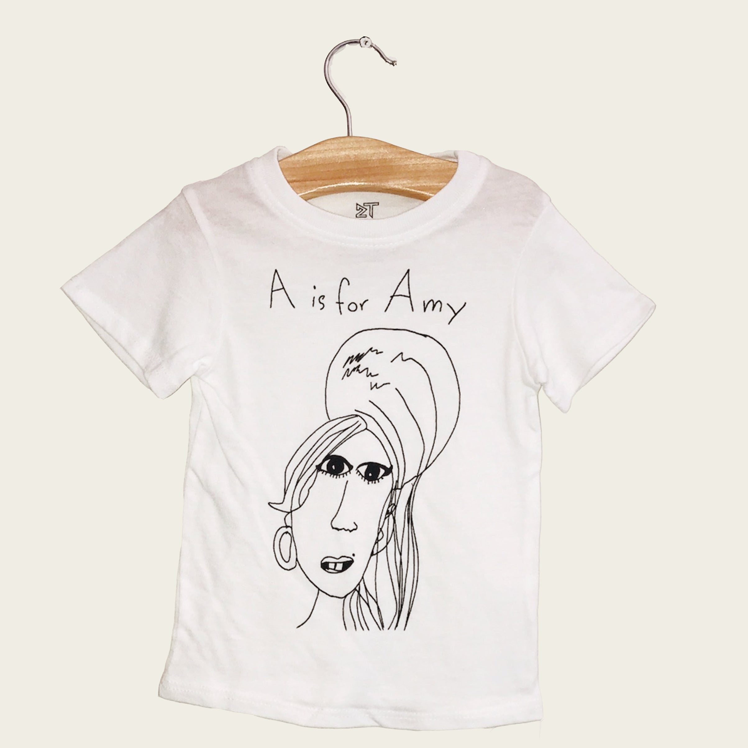 A for Amy White Tee Size 4 - Blackbird General Store