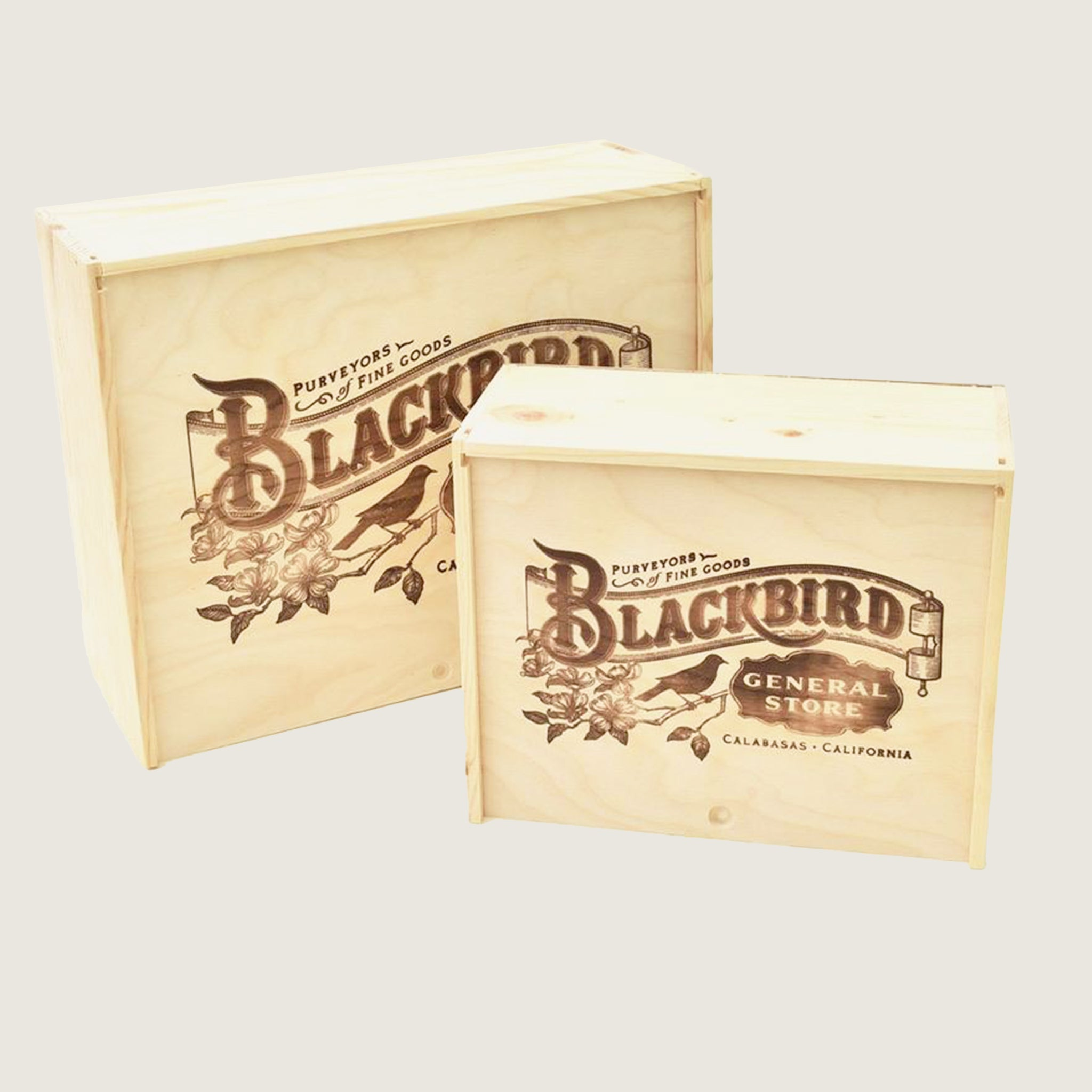 Blackbird Wood Gift Boxes - Blackbird General Store