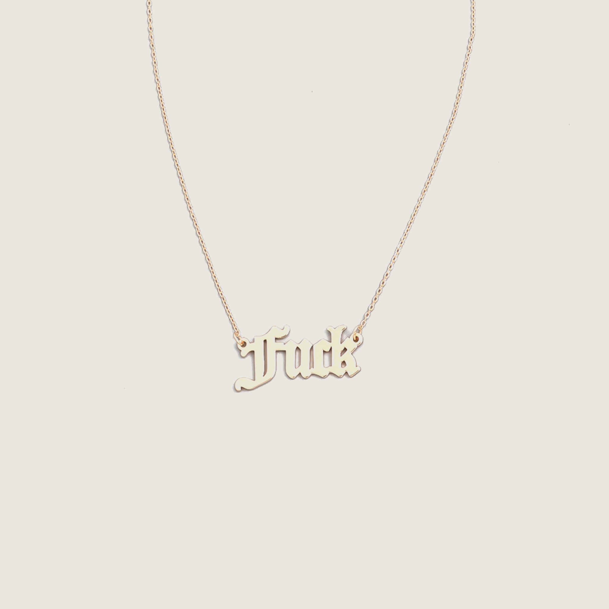 F Word Necklace - Blackbird General Store