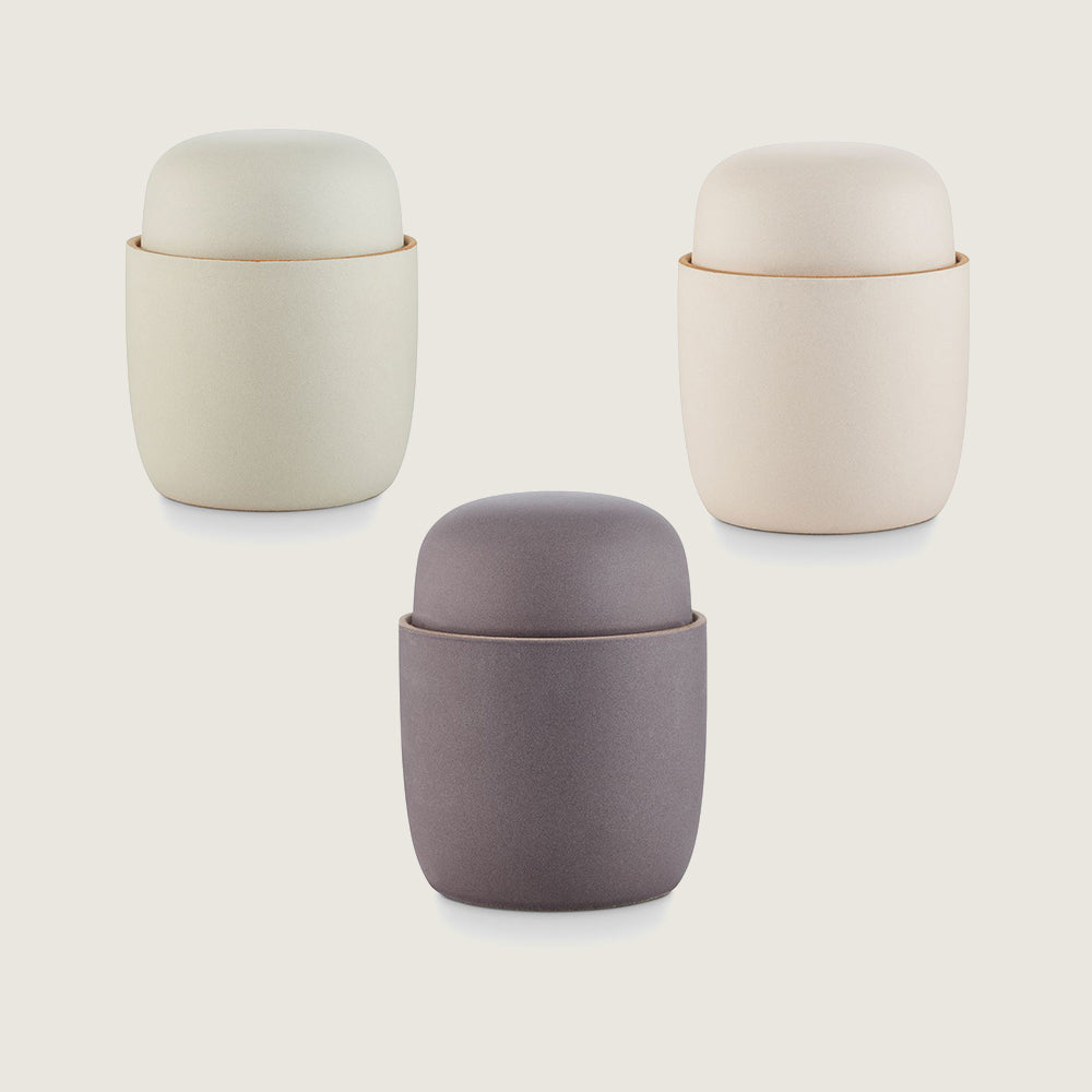 Lidded Ceramic Candles - Multiple Colors - Blackbird General Store