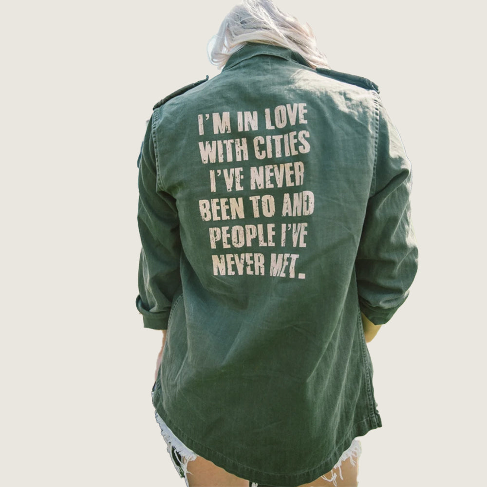 People Places Quote Jacket - Blackbird General Store