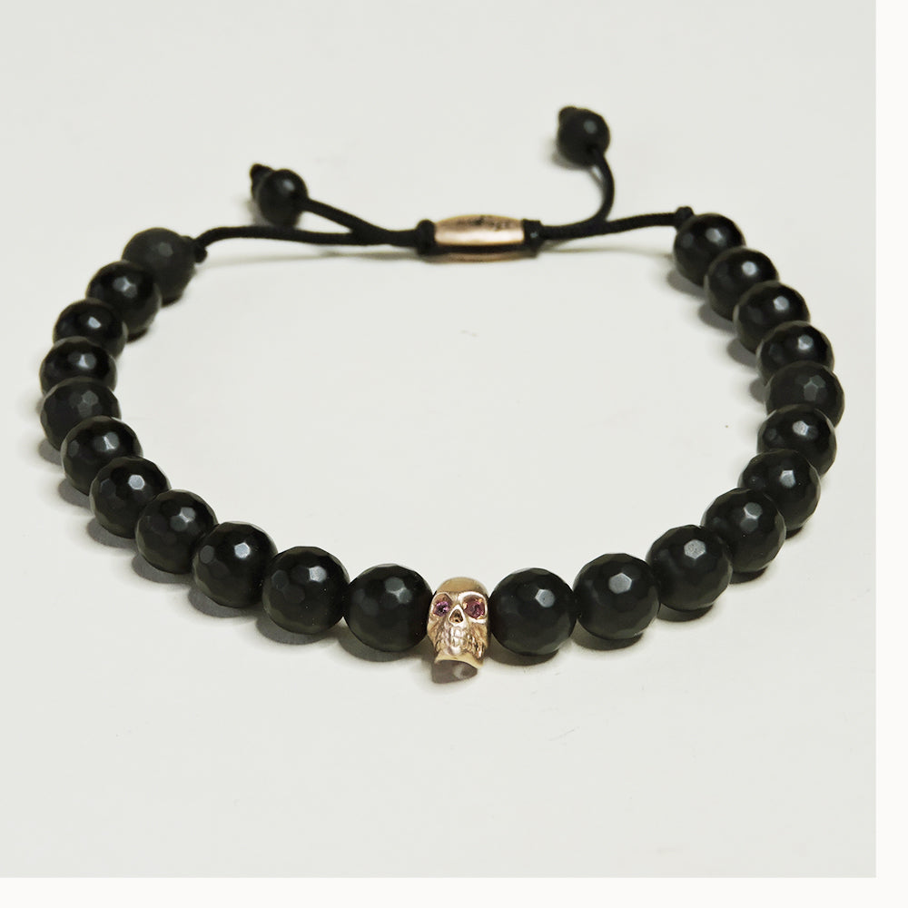 Rose Gold Skull Onyx w/ Ruby Eyes - Blackbird General Store